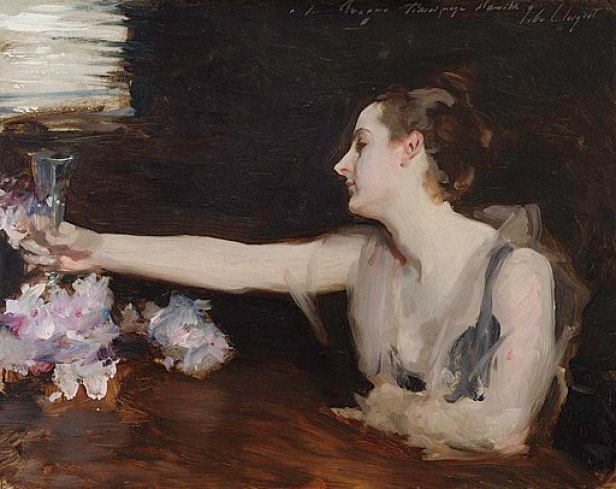"""Madame Gautreau Drinking a Toast"" by John Singer Sargent"