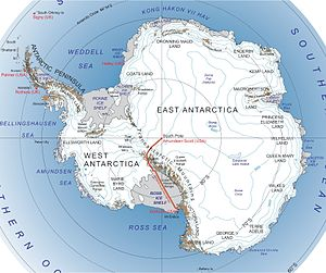 Map of the McMurdo-South Pole highway