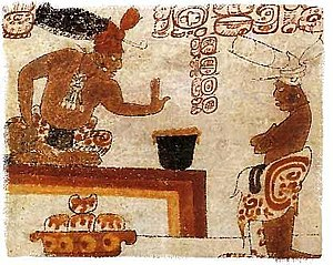 English: A possible Mayan chief forbids a pers...
