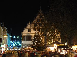 Paderborn, Germany: Christmas market at the Ra...