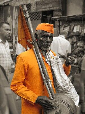 A Varkari (devotee of god Vithoba) journeys fr...