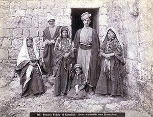 Peasant family of Ramallah. Bauren-familie von...