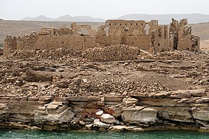 The remains of the Egyptian fort of Qasr Ibrim...