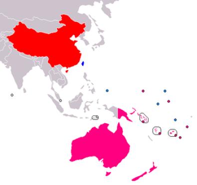 Risultati immagini per china oceania