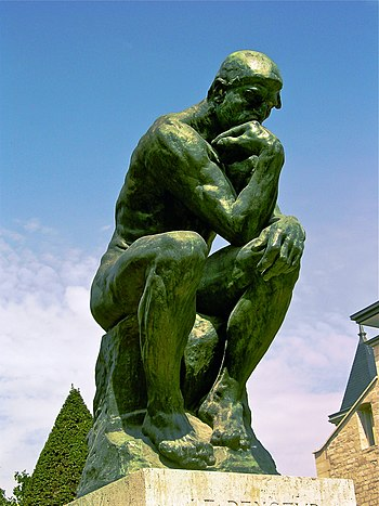 English: A photo of The Thinker by Rodin locat...