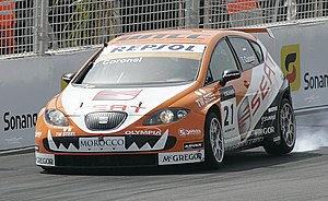 Tom Coronel driving SEAT Leon at Marrakech (20...
