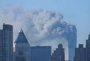 The World Trade Center after the 9/11 attacks