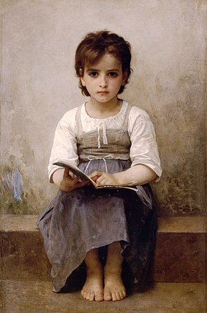 William-Adolphe Bouguereau's La leçon difficul...