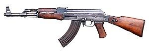 AK-47 Tipe 2. Ini adalah varian pertama yang menggunakan receiver tipe machined.