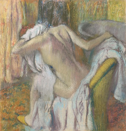 After the Bath, Woman drying herself - Edgar Degas - National Gallery