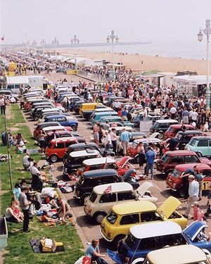 Typical Brighton seafront event; a display of ...