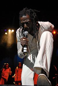 Buju Banton performing at New York's Apollo th...