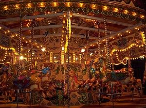Carousel at night Piccadilly Circus, London UK