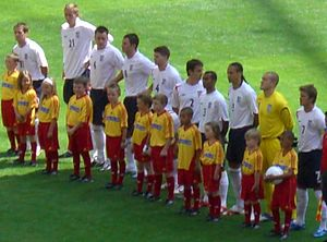 England team (v. Paraguay at the World Cup). F...