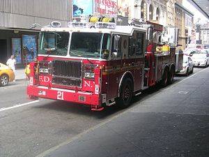 English: FDNY Ladder 21 near Times Square.