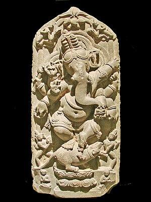 Dancing Ganesh (Ganesha) sculpture from North ...