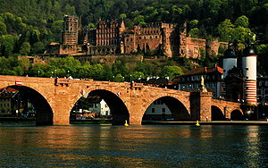 English: Heidelberg Castel and Bridge, Germany.