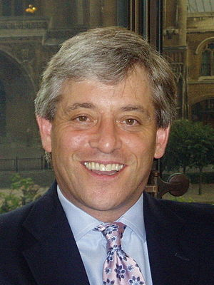 A photo of John Bercow, Speaker of the House o...