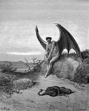 English: Lucifer, the fallen angel