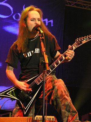 Alexi Laiho from Children of Bodom during Mast...