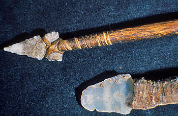 Hunting spear and knife, from Mesa Verde Natio...