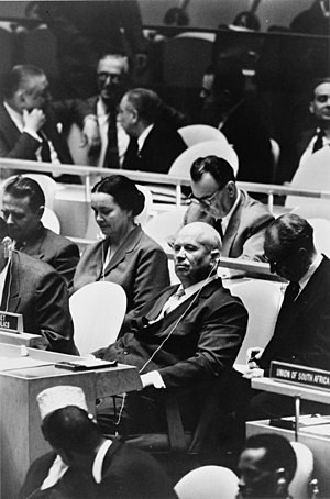 Nikita Khrushchev, leader of the Union of Sovi...