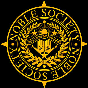 English: Noble Society brand logo