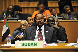 Omar Hassan Ahmad al-Bashir, the president of ...