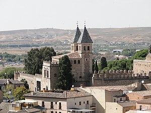 English: The New Bisagra Gate, Toledo, Spain F...