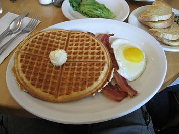 English: american breakfast