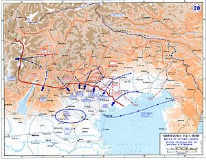 Map of the Battle of Vittorio Veneto, in which...