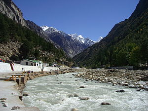 English: Bhagirathi River at Gangotri, Uttarak...