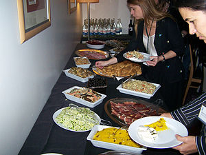 A part of the aniversary buffet
