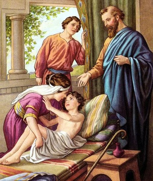 Elisha raising the Shunammites Son - Wikipedia