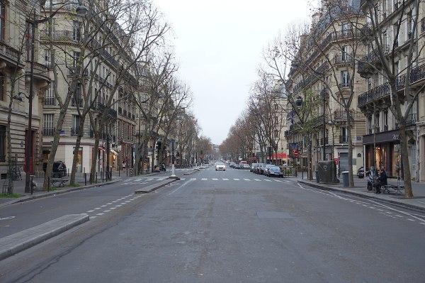 File:Empty street, Boulevard Saint-Germain, Paris 1 ...