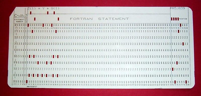 Cartão perfurado padrão IBM