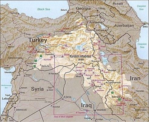 Кюрдистан - мечтаната държава на кюрдите.