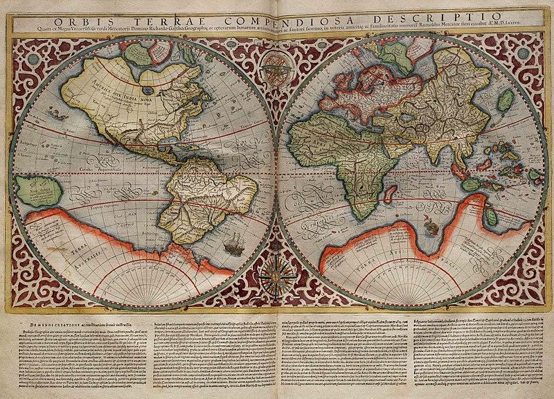 Mapa del món, 1587