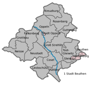 The districts of Upper Silesia (Boundaries fro...