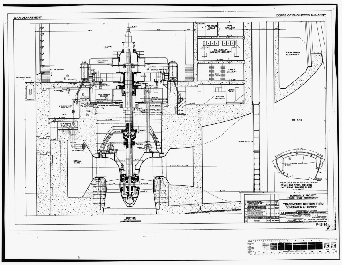 File Photocopy Of Original Construction Drawing Dated 3