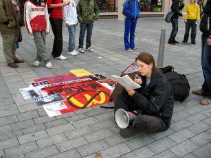 Protest proti McDonald's a jedení masa