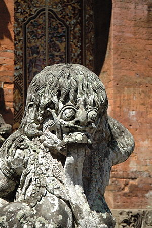 Statue of Rangda, the personification of evil ...
