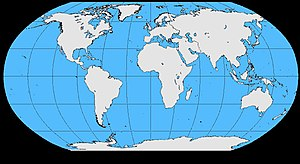 English: blank world map