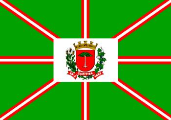 English: Flag of municipality of Curitiba, cap...