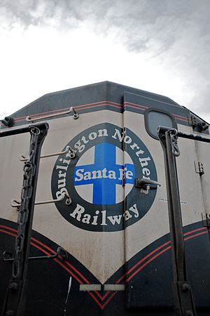 Front of a BNSF diesel locomotive