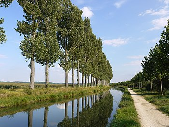 English: Canal de l'Ourcq near the Vignely loc...