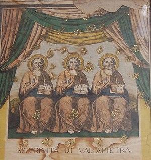 cuadro que representa a la Trinidad (santuario...