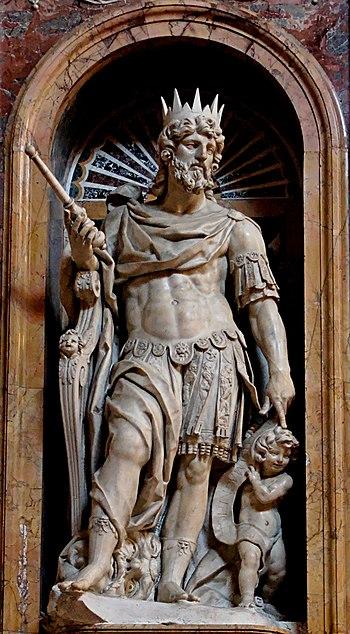 English: Statue of King David by Nicolas Cordi...