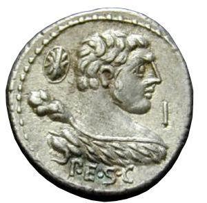 Denarius Publius Cornelius Lentulus Marcellinu...