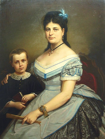 File:Gheorghe Tattarescu - Sotia pictorului cu fiul.jpg